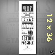 Ask Why: Motivational Quote Poster Science Classroom Teacher Inspirational Print