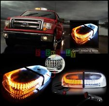 240 LEDs Light Bar Roof Top Emergency  Beacon Warning Flash Strobe Amber White