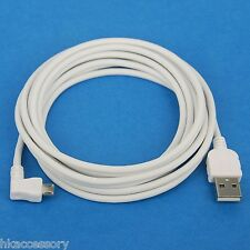 10ft 3M Charger ONLY Right Angle USB Cable WHITE 4 Samsung Galaxy Tab S2 S A E 3