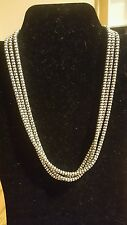 SILPADA N1108 18' 3 STRAND Oxidized Popcorn Necklace .925 STERLING **AMAZING**