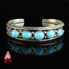 Vintage Navajo turquoise sterling silver 92.5 bracelet Native American jewelry