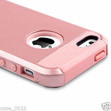 For Apple iPhone 5 5s SE Case Rose Gold Heavy Duty Shock Proof Cover Shockproof