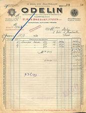 PARIS RUE BREGUET FACTURE ODELIN AU SOLEIL D' OR CHAUFFAGE OUTILLAGE 1930