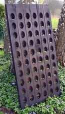 Very old riddling wine rack, almost black, from Pommery, for 60 bottles