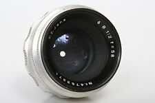 Zeiss Jena 58mm f2 Lens  M42 Screw Mount