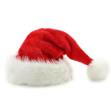 Christmas Hat Santa Claus Thickened Cap Family Adult/Child Xmas Red