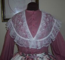 Civil War/Victorian/Sass Ladies Lace Bertha Fichu (White)