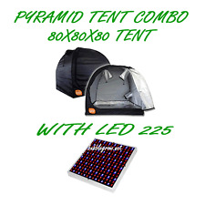 PYRAMID GROCELL 80X80X80 GROW TENT WITH LED 225 ENERGY SAVING GROWING LIGHT