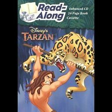 Disney Tarzan Read-Along Enhanced CD, 24 Page Book & Cassette Tape Set!