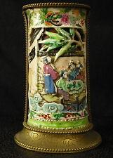Vase en porcelaine Polychrome Chine XIX ème et monture bronze 彩瓷瓷瓶第十九中国青铜装 China