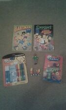 Simpsons Libro Comic Strike Back Bartman disparo Blaster figura de mensajería secreto