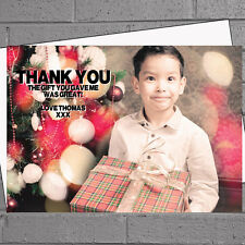 Personalised Photo Birthday/Christmas Thank you Cards x 12 with envs H1375