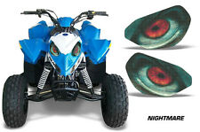 AMR Racing Head Light Eyes Polaris Outlaw 90 ATV Headlight Decals Part NIGHTMARE