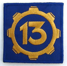 "Vault 13 Fallut Style Patch Cosplay Hook and Loop backing 3""x3"" Inches Square"