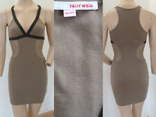 Tally Weijl vestito abito estate party sexy mini rete portante VERDE XS