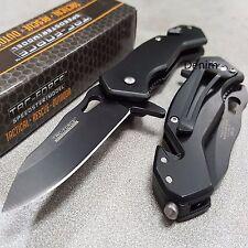 TAC-FORCE Full Black Speedster Spring Assisted Rescue Folding Pocket Knife