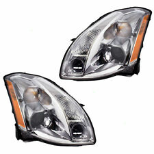 Halogen Headlights Headlamps LH Left & RH Right Pair Set for 04-06 Nissan Maxima