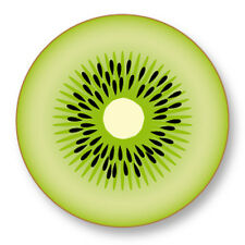 Pin Button Badge Ø38mm Kiwi Fruit Vegetal Vitamine Graine Botanique Arbre