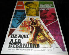 1953 From Here to Eternity ORIGINAL SPAIN POSTER Fred Zinnemann Montgomery Clift