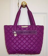 NWT Michael Kors SADIE Large Quilted Nylon Tote Bag POMEGRANATE 30F3GAET3C