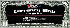 12 Large Dollar Bill Slab Currency Holders BCW Brand - Money Protection 2 Piece