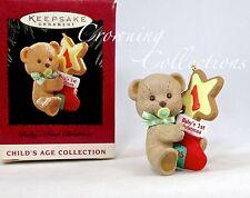 1995 Hallmark Baby's First Christmas Keepsake Ornament Teddy Bear Cookie 1st #1