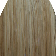 "15"" Clip in Hair Extensions STRAIGHT Blonde Mix #18/613 FULL HEAD 8pcs"