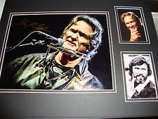 KRIS KRISTOFFERSON signed mounted and matted 16x12 - BLADE, EASY RIDER, SINGER