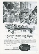 1951 Beechcraft Aircraft Ad Model 18 Personal Airplane Executive Businessmen