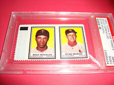1962  topps Stamp # Stan Musial /Zoilo Versalles psa 9 oc Cardinals/Twins(074)