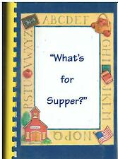 *ANCHORAGE AK 2002 *WHAT'S FOR SUPPER? COOK BOOK *SANDY LAKE ELEMENTARY SCHOOL