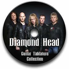 DIAMOND HEAD HEAVY METAL ROCK GUITAR TABS TABLATURE SONG BOOK SOFTWARE CD