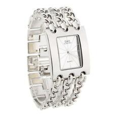 Womens Quartz Movement Bracelet Wrist Watch Silver Alloy Wristwatch Xmas Gift
