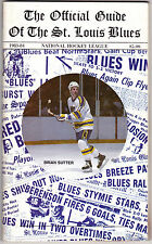 1983-84 St. Louis Blues media guide EX-MT sharp cover