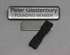 Engraved 75x19mm Domed Name Tag Badge - Magnet fastener