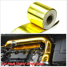"Golden Color 2""x33' Roll Self Adhesive Reflective Car SUV Heat Shield Wrap Tape"