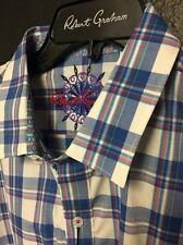 NWT Mens Robert Graham Long Sleeve Cool Water Shirt msrp $198 New Size Medium M