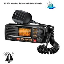 Submersible Marine Class D UM380 VHF Radio With Rugged Microphone & GPS Data