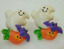 Super Cute Spooky Ghost Bat & Pumpkin Halloween Earrings 1591M5
