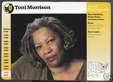 TONI MORRISON Author Writer Photo GROLIER STORY OF AMERICA BIO CARD