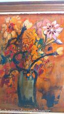 peinture pot de fleur signée painting flower SAUZE Jacques, 20