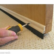 Wood Brush Door Bottom Strip Sweep Wooden Draught Excluder