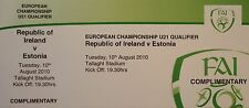 VIP TICKET 10.8.2010 U21 Irland Ireland - Estonia Estland