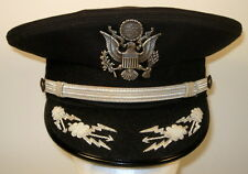 USAF US Air Force Male Field Officer Black Mess Dress Hat Cap Bullion 7 1/8  57