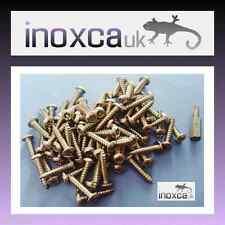 75 @ 4 x 20mm ACIER INOXYDABLE TORX à tête bouton VIS DE BOIS sécurité BROCHE+