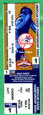 2002 ALCS GM #1 FULL TICKET @ YANKEES-DEREK JETER