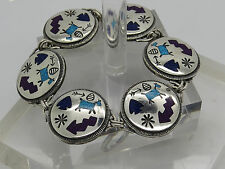 Carolyn Pollack Sterling Silver 925 Relios Turquois Southwestern Toggle Bracelet