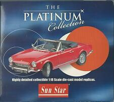 SUN STAR 1:18 THE PLATINUM COLLECTION  FIAT 124 SPIDER AS  ROSSO RED  ART 4901