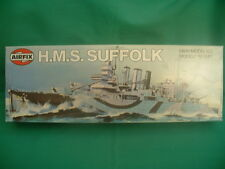 AIRFIX VINTAGE 1:600 H.M.S.SUFFOLK KIT MINT IN BOX VERY RARE