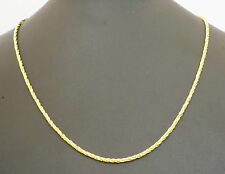 18Carat Yellow Gold 20 inch Fancy Twisted Rope Chain Necklace 2mm Wide